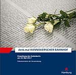 Cover der Broschüre zur Eröffnung denk.mal Hannoverscher Bahnhof