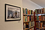 Bild von Ralph Giordano in der neu eröffneten Ralph-Giordano-Bibliothek
